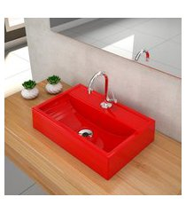 kit cuba para banheiro trevalla q45e torneira válvula 1pol vermelho