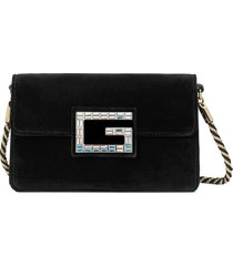 gucci black shoulder bag with square g