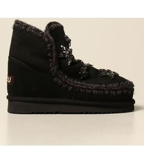 mou flat booties eskimo 18 mou ankle boot with rhinestone stars