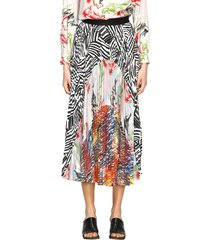 missoni skirt missoni pleated skirt with patchwork patterns