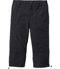 pantalone 3/4 in microfibra con vita elasticizzata ai lati. (nero) - bpc bonprix collection