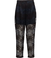 parker lace pantalon met rechte pijpen zwart ganni