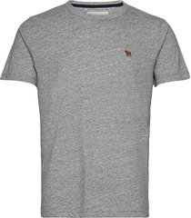 anf mens knits t-shirts short-sleeved grå abercrombie & fitch