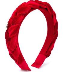 monnalisa braided headband - red