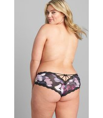 lane bryant women's strappy-back cheeky panty 26/28 shaded foral