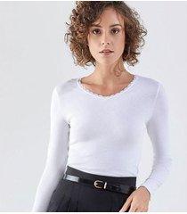 camiseta liz easywear camiseta manga longa feminina - feminino