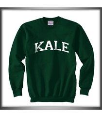kale unisex crewneck sweatshirt deep forest