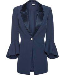 blazer con bottone gioiello (blu) - bodyflirt boutique