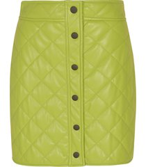msgm quilted short skirt