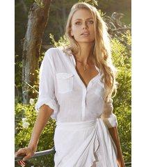 melissa odabash tash shirt white