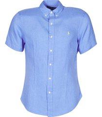 overhemd korte mouw polo ralph lauren chemise cintree en lin col boutonne logo pony player