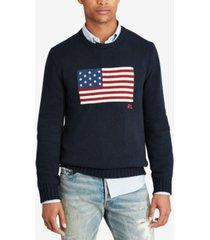 polo ralph lauren men's big & tall flag cotton sweater