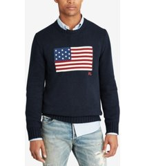 polo ralph lauren men's big & tall graphic cotton sweater