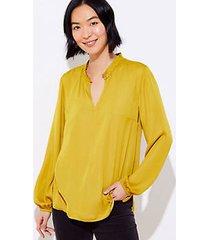 loft back peplum blouse