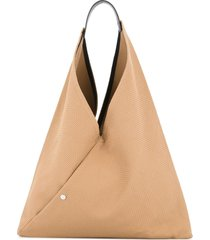 cabas n39 triangle tote - brown
