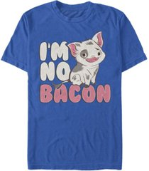 disney men's moana pua cute i'm no bacon, short sleeve t-shirt
