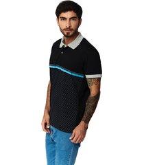 camiseta tipo polo-puntazul-negra-41443