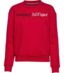 track top lwk sweat-shirt trui rood tommy hilfiger