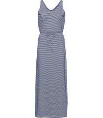 dks linen jersey maxi dress maxiklänning festklänning blå sebago