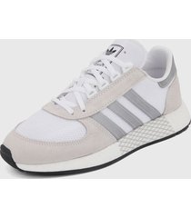 tenis lifestyle blanco-gris adidas originals marathon tech