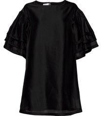 enola sleeve dress blouses short-sleeved svart designers, remix