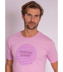 camiseta aleatory estampada velvet - masculina - masculino