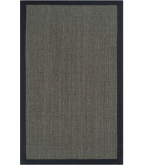 safavieh natural fiber charcoal 2' x 14' sisal weave runner area rug