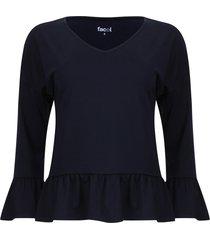 camiseta con arandelas color azul, talla 8