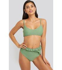 na-kd swimwear bohoo bikini bottom - green