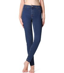 calzedonia - thermal jeans, xs, blue, women