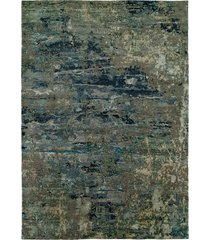 natori lhasa- sandstorm blue rug, silk, size 8 x 10 natori