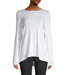 saks fifth avenue women's long-sleeve swing top - navy - size xs