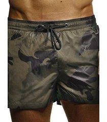 pantalones cortos con estampado de camuflaje para hombre holiday playa trajes de baño
