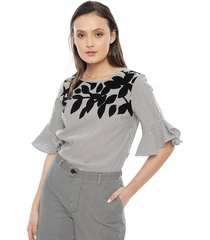blusa calvin klein stripe multicolor - calce regular
