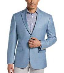 pronto uomo platinum modern fit sport coat light blue herringbone