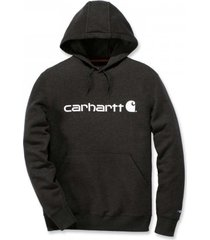 carhartt trui men delmont graphic hooded sweatshirt black heather-s