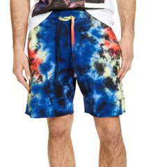 guess men's tie dye shorts