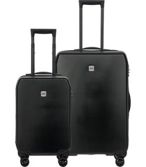 bric's mennagio two-piece suitcase set - black