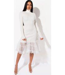 akira close to you long sleeve turtleneck midi dress