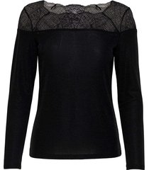 aya longsleeve lace lurex top