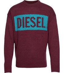 k-logox-c pullover stickad tröja m. rund krage röd diesel men