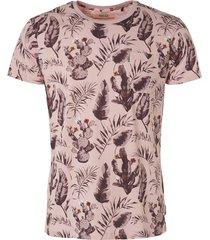 noize t-shirt, s/s, r-neck, allover print soft pink roze