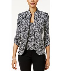 alex evenings printed jacket and top set, regular & petite sizes