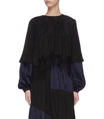 patchwork asymmetric dress