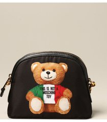 moschino couture crossbody bags moschino couture nylon bag with teddy