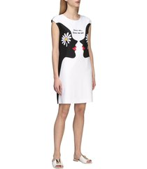 boutique moschino dress boutique moschino dress with face print