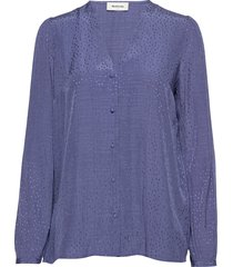 angelina top blouse lange mouwen blauw modström