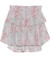 ruffle mini skirt in burnt pink skies