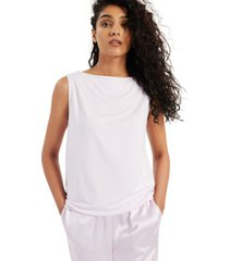 alfani modern lounge boat-neck tank top, created for macy's