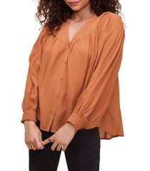 women's astr the label piper peasant top, size medium - orange